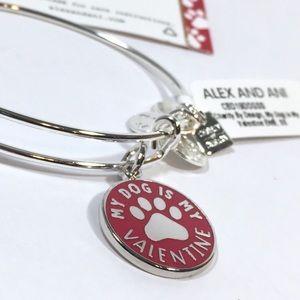 Alex and Ani My Dog Is My Valentine Wire Bracelet